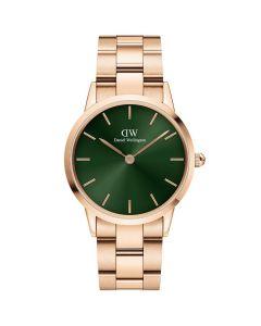 Daniel Wellington ADW00100420 - Lækkert dameur Iconic Emerald Rosa 32MM